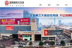 网站建设案例:湖南高桥大市场
